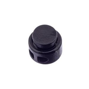 Nööristopper kahe avaga 3,2 mm, must