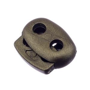 Nööristopper kahe avaga 4,8 mm, oliiv