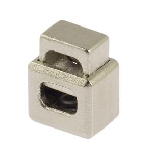 Nööristopper ühe avaga 5x9,3 mm, hõbedane