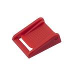 Klapp-pannal 20 mm, rihveldatud, punane