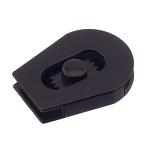 Nööristopper 3697, kahele nöörile 3,5 mm, must