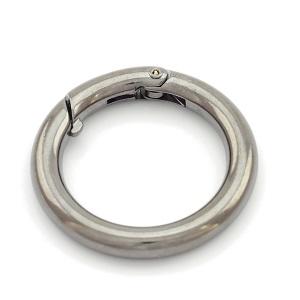 Karabiin 30 mm, must nikkel