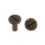 Kruvineet 9x10 mm, antiikmessing