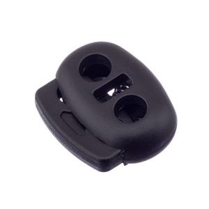 Nööristopper kahe avaga 4,8 mm, must