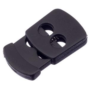 Nööristopper kahe avaga 6 mm, must