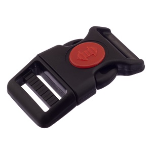 Pistikpannal  20 mm, kumer, turvanupuga, must